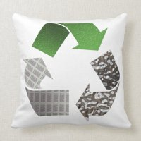 Recycle Throw Pillow | Zazzle