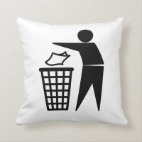 Recycle Trash Pillow | Zazzle