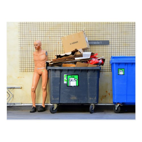 Recycling Cardboard in Copenhagen Postcard