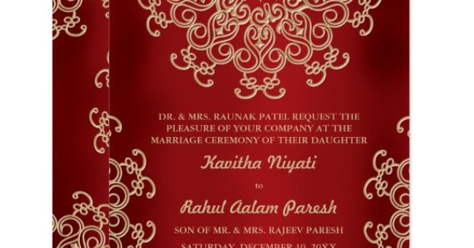10 Personalised Elegant Red Gold Swirl Wedding Invitations Day Or Evening N70