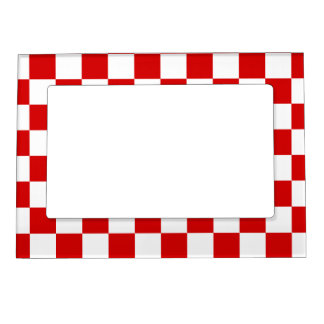 Checkered Magnetic Frames Checkered Picture Frame Magnets