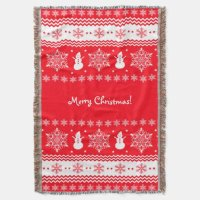Red and White Christmas Throw | Zazzle