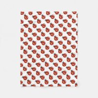 Red And White Ladybugs Throw Blanket | Zazzle.com