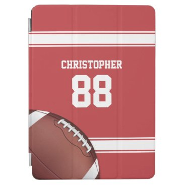 Red and White Stripes Jersey Football iPad Air Cover