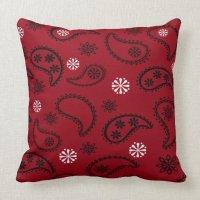 Red Bandana Pillow Throw Pillow   Zazzle
