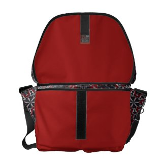 Red,Black,Grey Kaleidoscope Messenger Bag