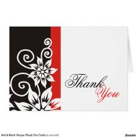 red_black_unique_thank_you_cards ...