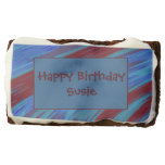 Red Blue Color Swish Abstract Chocolate Brownie