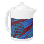 Red Blue Color Swish Abstract Teapot