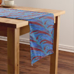 Red Blue Color Swish Long Table Runner