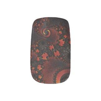 Red Dragon Fractal Art Minx Nail Wrap