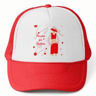 Red dress girl - Hat hat
