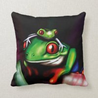 Red Eyed Tree Frog Pillows - Decorative & Throw Pillows ...