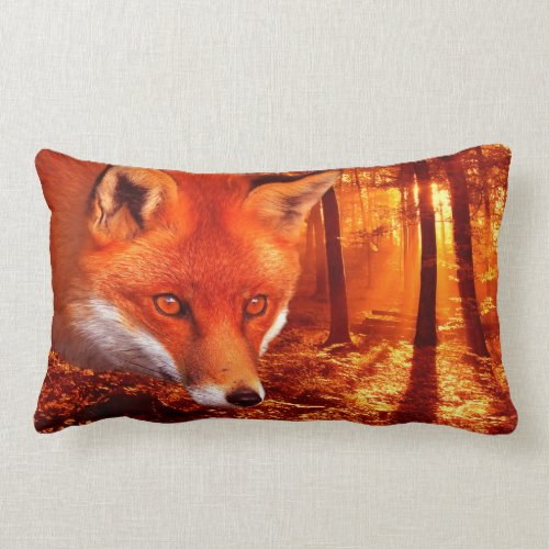 Red Fox Lumbar Pillow