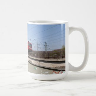 Red German Train Coffee Mugs