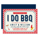 Red Gingham and Blue I Do BBQ Engagement Party Invitation