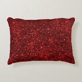 Red Glitters Accent Pillow
