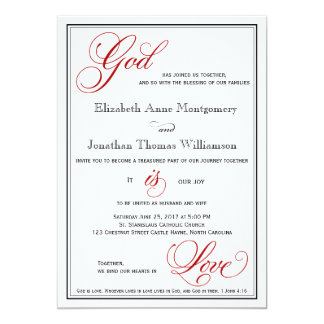 Red Is Love Wedding Invitations