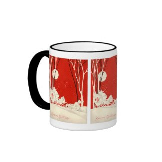 Red Horse and Carriage Mug