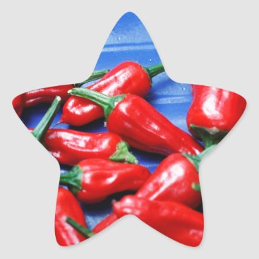 Red hot and blue: chilli peppers star sticker