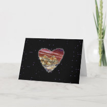 Red Planet Heart Sci Fi Valentine Love Romance cards