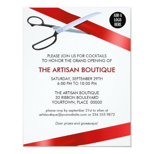 Shop opening invitation card format paperinvite grand openings invitations zazzle stopboris Gallery