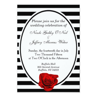 Chinese Red And Black Wedding Invitation Cards