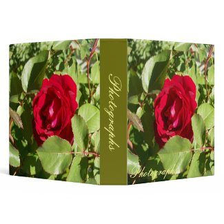 Red Rose Photo Binder binder