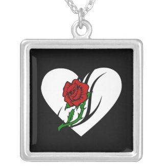 Red Rose Tattoo Necklace and Gifts