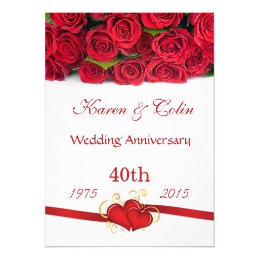 40th Wedding Anniversary TShirts 40th Anniversary Gifts
