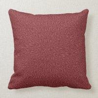 Red Satin Throw Pillow   Zazzle