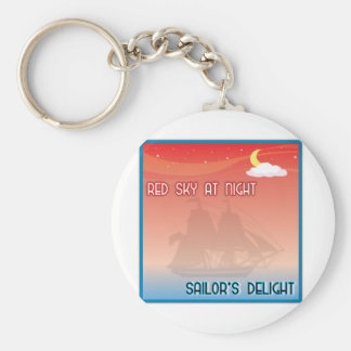 Red Sky At Night Key Chains