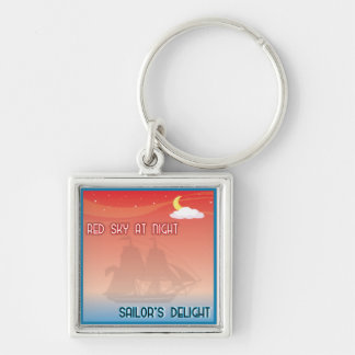 Red Sky At Night Keychain