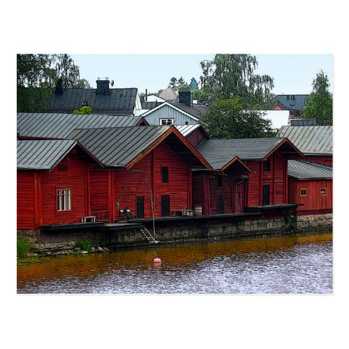 Red Storehouses in Porvoo, Finland