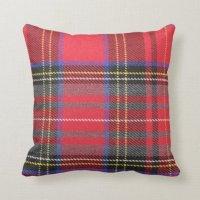 Red Tartan Plaid Throw Pillow | Zazzle.com