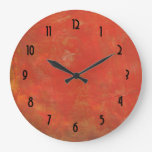Red Textured Grunge Abstract Background Clocks