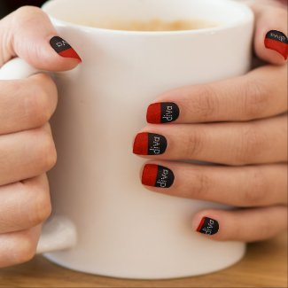 Red Tips Diva Nail Wraps