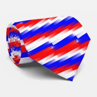Red, White and Blue Pixel Tie