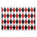 Red white black harlequin diamond pattern placemat zazzle