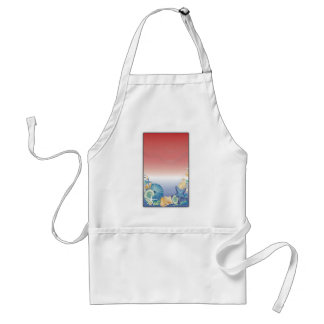 Red White Blue Starfish Shell Montage Aprons