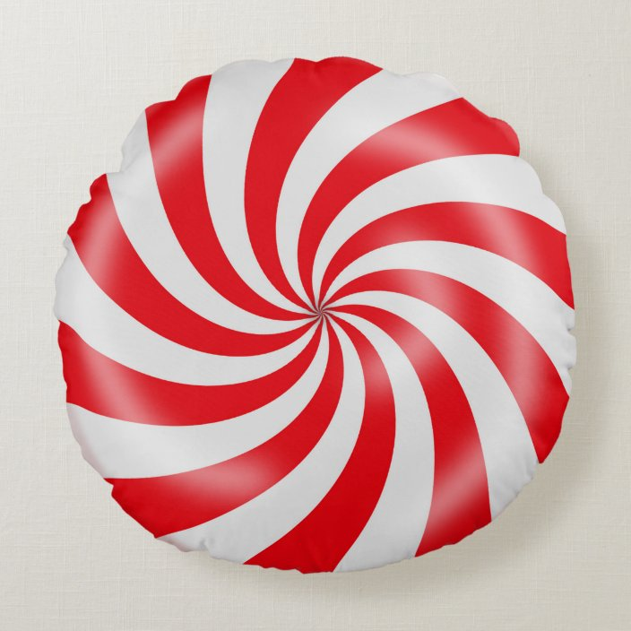 red white candy spiral design round pillow zazzle com