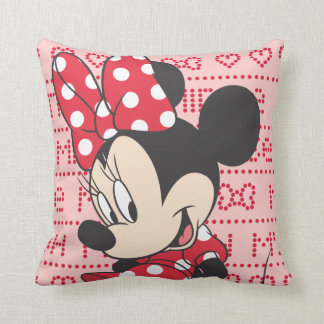 Red & White Minnie 3 Pillow