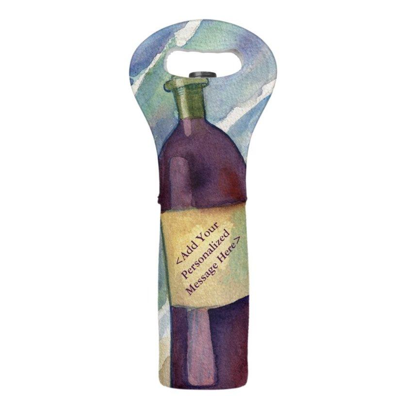 Red Wine Beach Party Custom Wine Bottle Tote Bags