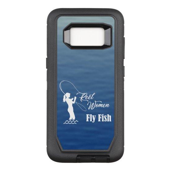 Reel Women Fly Fish Fishing OtterBox Defender Samsung Galaxy S8 Case