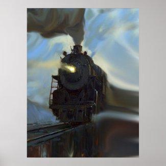 Reflected Train print