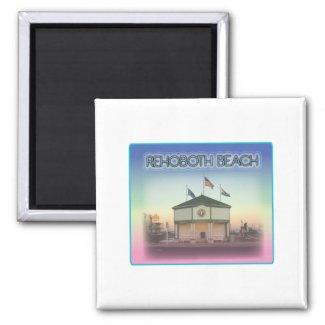 Rehoboth Beach Delaware - Rehoboth Ave Scene Refrigerator Magnet