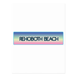 Rehoboth Beach Pastel Rainbow Style 1 Post Cards