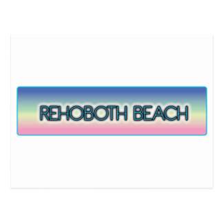 Rehoboth Beach Pastel Rainbow Style 1 Postcards