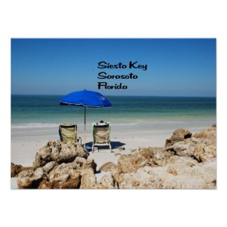 Relaxing on Siesta Key Poster