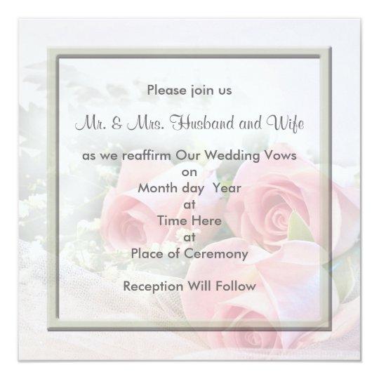 Renewing Wedding Vows Invitations  Zazzlecom